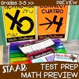 3rd, 4th, 5th Grade TEXAS Math Test Prep Review Games Bund