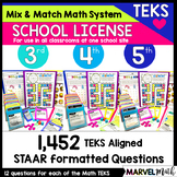 3rd, 4th & 5th Site License: Math TEKS Games, STAAR Review, Assessments