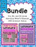 3rd, 4th, 5th grade Interactive Writer's Notebook and Grammar Add-on BUNDLE!
