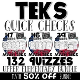 3rd, 4th, & 5th grade MATH TEKS Quick Checks - All TEKS Quizzes included!