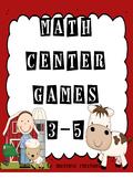 Math Center Games 3rd, 4th, 5th grades