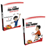 3rd & 4th Grade + 5th Grade File Folder Math Games Bundle