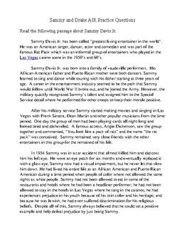 3rd4th Grade Common Core Reading Sammy And Drake Practice Questions