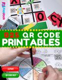 3rd-4th Grade Back to School QR Code Printables - Low Prep!