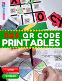 3rd-4th Grade Back to School Math Worksheets with QR Codes - Low Prep!
