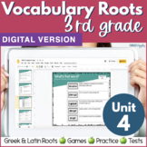 3rd & 4th Grade DIGITAL Vocabulary UNIT 4 Greek & Latin Ro