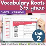 3rd & 4th Grade DIGITAL Vocabulary UNIT 2 Greek & Latin Ro