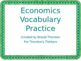 3rd & 4th Grade Economics Vocabulary