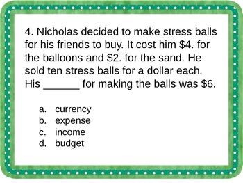 3rd & 4th Grade Economics Vocabulary