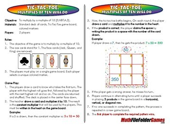 3rd & 4th Grade File Folder Math Games