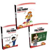 3rd & 4th Grade (File Folder Math Games) - BUNDLE