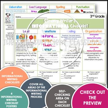3rd & 4th Grade Informational Writing Checklist