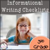 3rd Grade Informational Writing Checklist