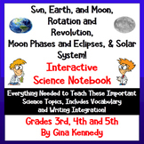 Solar System & Moon Phases Interactive Notebook, Lessons, Writing, & More