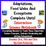 Animal Adaptations, Ecosystems, & Habitats Interactive Notebook; Great Lessons!