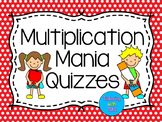 3rd, 4th Grade Math - Multiplication Facts Quizzes