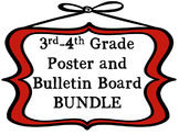 3rd-4th Grade Math Poster and Bulletin Board BUNDLE Based on the TEKS