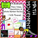 3rd & 4th Grade Math Review Brain Break