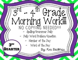 3rd-4th Grade Morning Work!!!