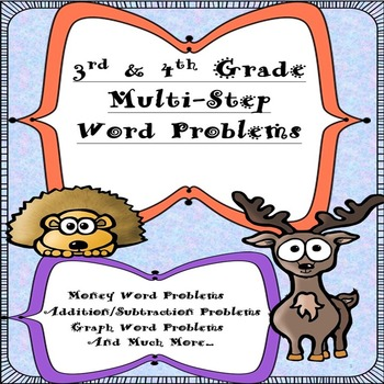 3rd and 4th Grade Multi-Step Word Problems-(200 Problems)