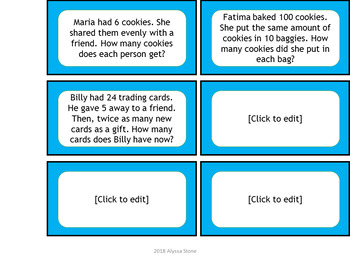 3rd-4th Grade Multiplication & Division Game {Editable}