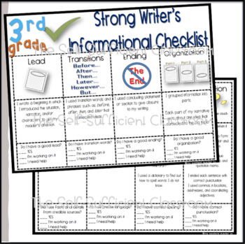 3rd & 4th Grade Opinion, Narrative, & Informational Writing Rubric/Posters
