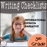 3rd Grade Opinion, Narrative, & Informational Writing Rubric/Posters