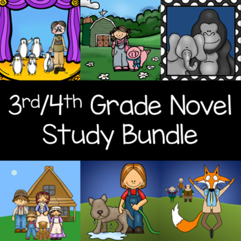 3rd - 4th Grade Reading Level Interactive Notebook and Activity Book Unit Series