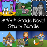 3rd - 4th Grade  Novel Study Bundle
