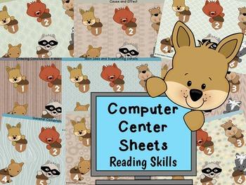 3rd-4th Grade Reading Skills Computer Center Sheets