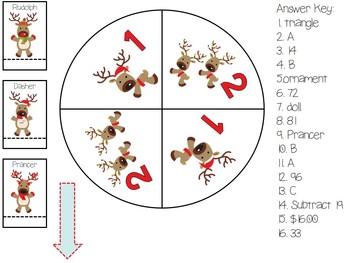 3rd & 4th Grade Reindeer Pattern Center Game