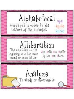 3rd & 4th Grade Vocabulary