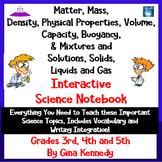 Mass, Matter, Mixtures & Solutions Interactive Notebook, L