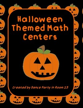 3rd, 4th, and 5th Grade Halloween Math Themed Centers
