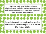 3rd, 4th and 5th Grade I Can Statements Bundle (NC Music)