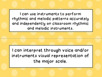 3rd, 4th and 5th Grade I Can Statements Bundle (NC Music) - Shades of Orange