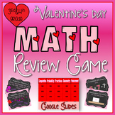 Valentine's Day Math Review Game in Google Slides™