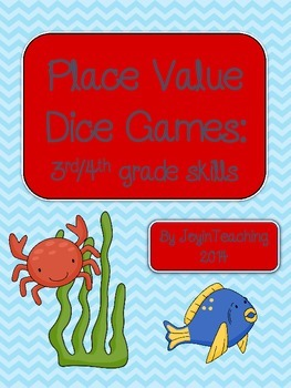 3rd/ 4th grade: Place Value Dice Games:  id place value/ round numbers