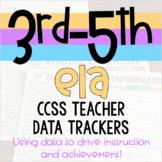 3rd-5th ELA Teacher Data Trackers