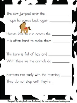 3rd-5th Farm Animals Learning Pack