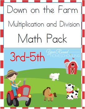 3rd-5th Farm Animals Multiplication & Division Pack