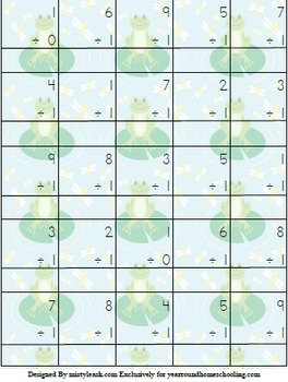 3rd-5th Frog Multiplication & Division Math Pack