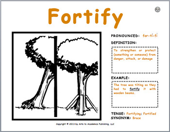 """Visual Vocabulary """"Word Wall"""" Cards (30 Pack #3) 3rd-5th Grade Verbs"""