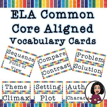 3rd-5th Grade ELA Vocabulary Cards