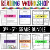 3rd-5th Grade Reading Workshop BUNDLE {Distance Learning} Print and Digital