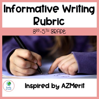 3rd-5th Grade Informative Writing Rubric (Inspired by the AZMerit Rubric)