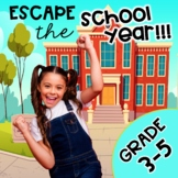 3rd - 5th Grade Math Review End of Year Escape Room Bundle