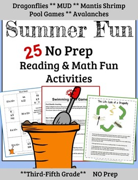 3rd Grade Math:  3rd Grade Reading: Summer Review