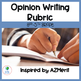 3rd-5th Grade Opinion Writing Rubric (Inspired by the AZMe