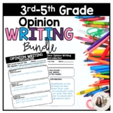 3rd, 4th, or 5th Grade Opinion Writing Unit Bundle *Ready for Google Classroom™*
